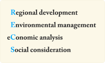 Regional developmen Environmental management eConomic analysis Social consideration