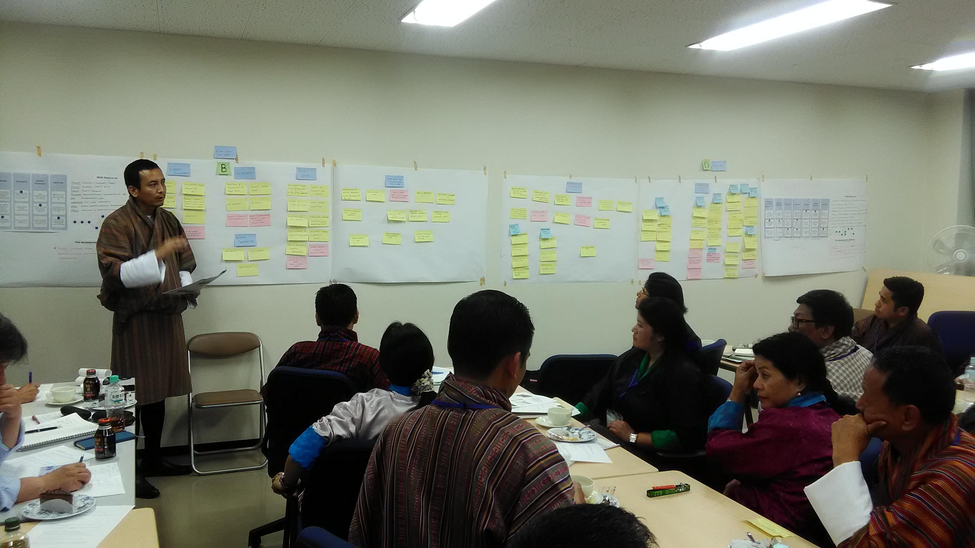 カウンターパートによるブータンの望ましい開発モデルの協議